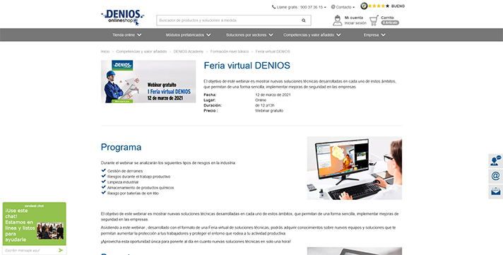 Feria virtual Denios