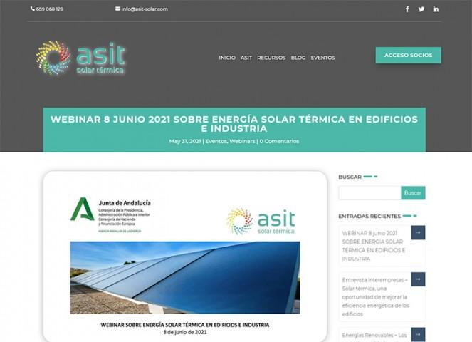 Webinar sobre energía solar térmica en edificios e industria