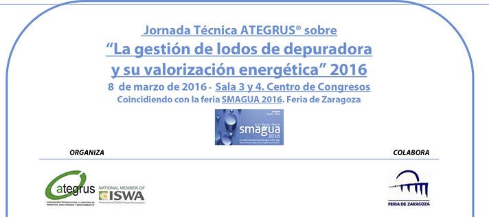 """Jornada Técnica """"La gestión de lodos de depuradora y su valorización energética"""" 2016"""