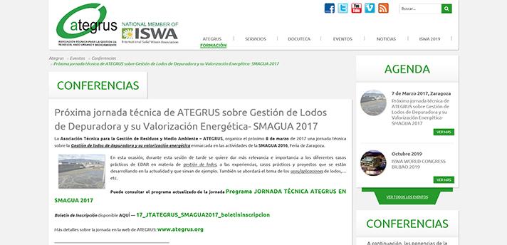 Jornada Técnica de Ategrus sobre Gestión de Lodos de Depuradora y su Valorización Energética en Smagua 2017