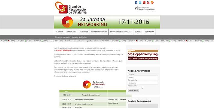3ª Jornada de Networking Gremi de Recuperació de Catalunya