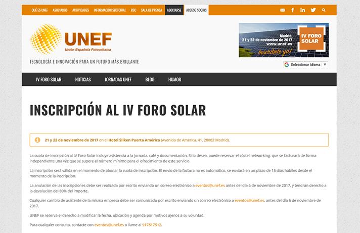 IV Foro Solar UNEF
