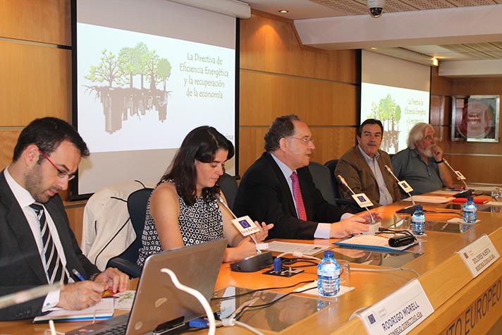 Esta jornada sobre eficiencia energética se desarrolló en la sede de la Comisión Europea en Madrid