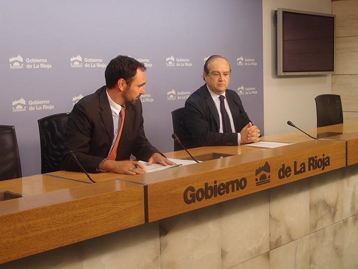 Un momento de la presentación de los datos del Gobierno de La Rioja junto a Ecoembes