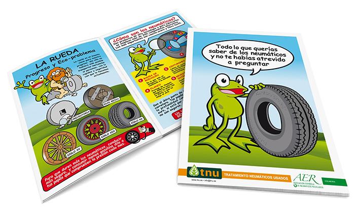 Una simpática rana será la encargada de explicar a los más pequeños que hay detrás del reciclado de neumáticos