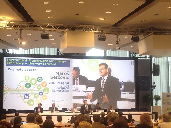 La Semana Europea de la Energía Sostenible tuvo lugar en Bruselas del 15 al 19 junio