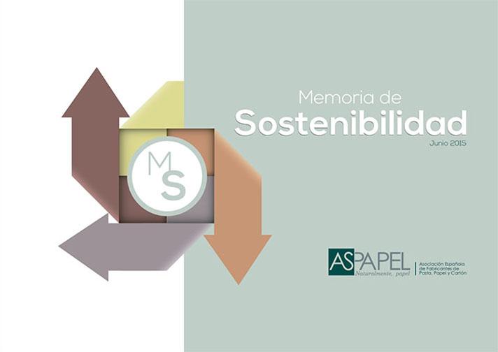 Portada de la Memoria de Sostenibilidad de Aspapel