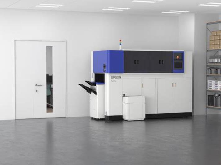 Sistema de fabricación de papel de oficina que convierte los residuos de papel en papel nuevo de Epson