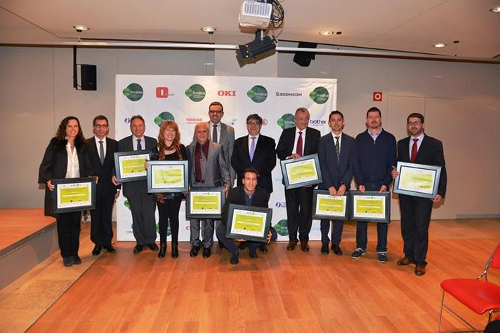 Los galardonados en los I Premios ECO Cataluña