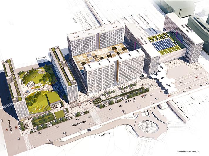 Los puntos de partida para el diseño del nuevo centro urbano Tripla son el respeto al medio ambiente y la eficiencia energética