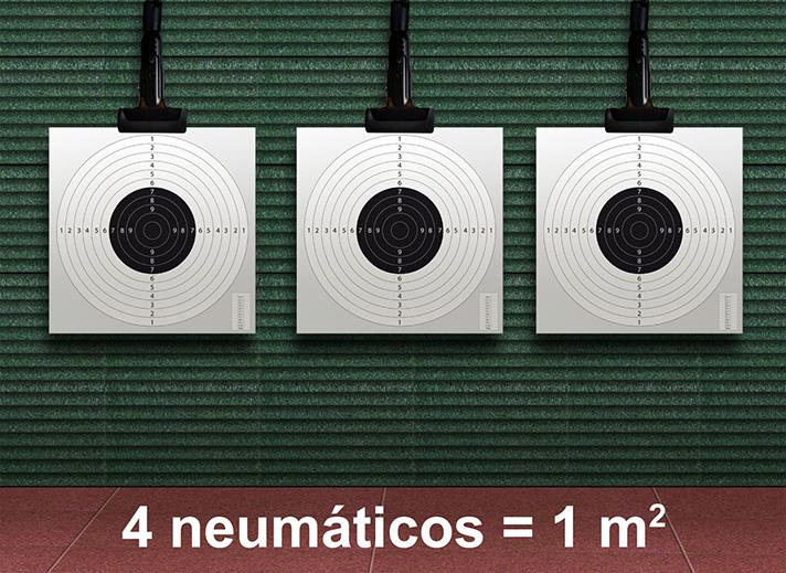 Placas de galerías de tiro a partir de Neumáticos Reciclados