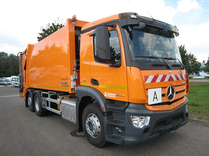 La compañía lleva casi 20 años utilizando camiones de recogida de residuos con caja de cambios completamente automática Allison