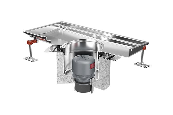 Gama de soluciones higiénicas para drenar agua residual de ACO