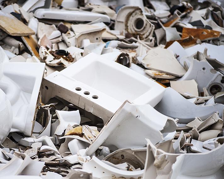 Reciclaje de materiales cerámicos sobrantes en la construcción