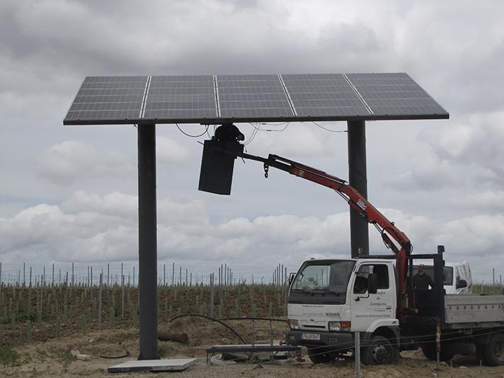 Riego solar a gran escala en Toledo