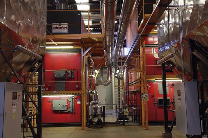 Red de calor con biomasa de Móstoles Ecoenergía