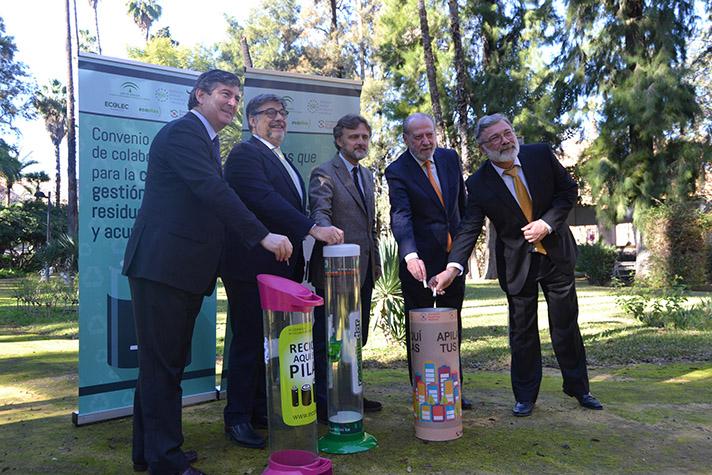 Al convenio, se han adherido, además de ERP, la Federación Andaluza de Municipios y Provincias, Ecopilas y Ecolec