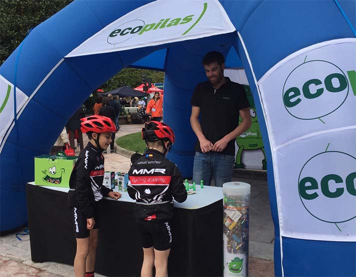 Ecopilas instaló sus contenedores en 14 competiciones deportivas