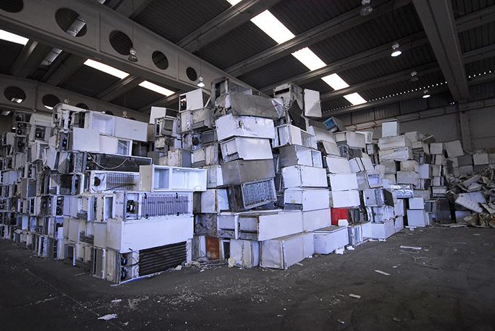 En 2017, los sistemas colectivos gestionaron 5,30 kg de residuos electrónicos por habitante, casi un 25% más que en 2015