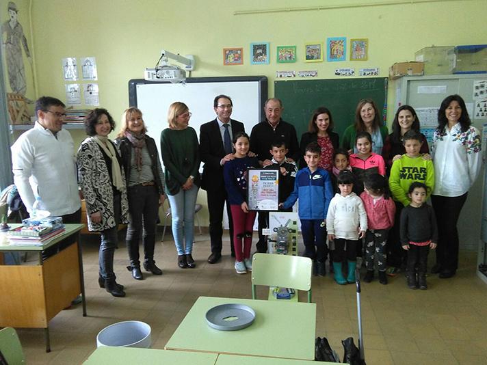 El Consorcio Provincial de Residuos de Palencia y ERP han hecho entrega del premio al Colegio Rural Agrupado de Baños de Cerrato