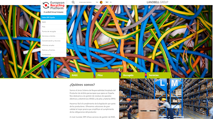 La nueva web se configura como un espacio más visual