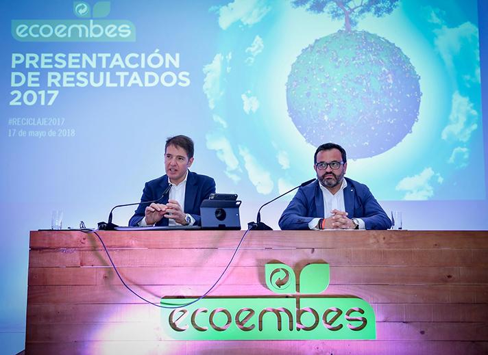 Óscar Martín, consejero delegado de Ecoembes, e Ignacio González, presidente de Ecoembes