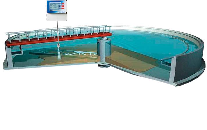 Sistema de medición ultrasónico con sensor sumergido de Seko
