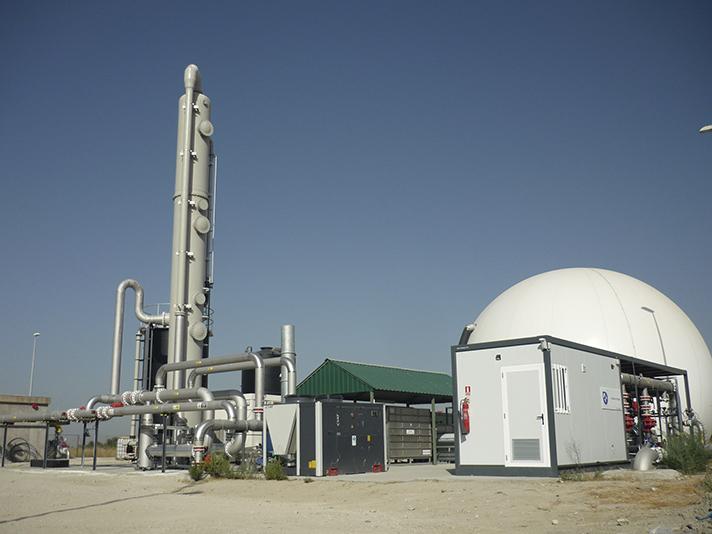 Producción y aprovechamiento de biogás en el Parque Tecnológico de Valdemingómez