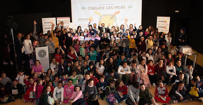 La campaña, organizada por Amiab y ERP, con la colaboración de la Región de Murcia, se cerró con el acto de entrega del premio al colegio ganador