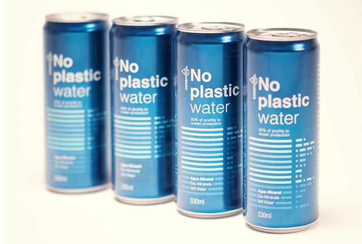 Se trata de un agua mineral envasada en aluminio eternamente reciclable