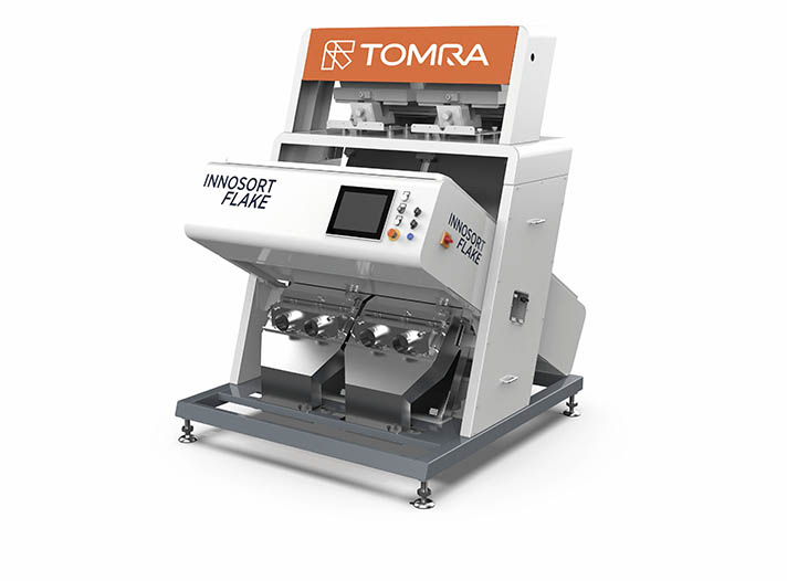 Innosort Flake de Tomra Sorting Recycling con sistema de clasificación dual basada en sensores