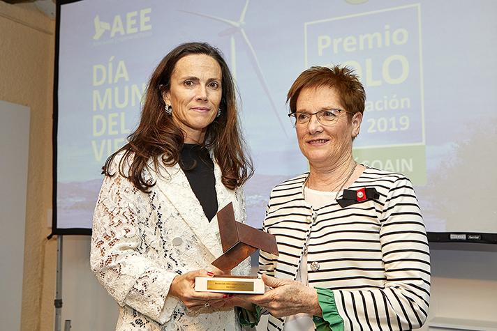 Barásoain recibe el VIII Premio a la Integración de la Eólica