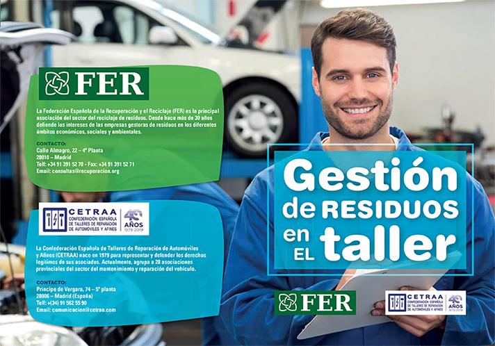 FER y CETRAA lanzan una campaña sobre cómo gestionar los residuos generados en los talleres