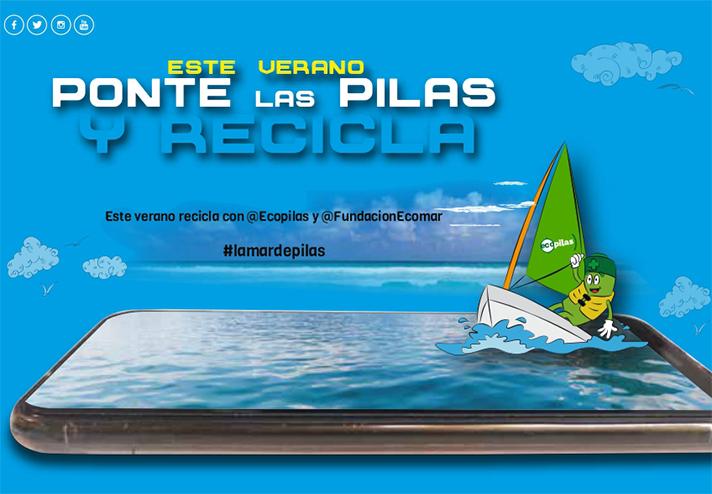 Este verano 74 clubes y escuelas náuticas de toda España recogerán pilas usadas para su reciclaje