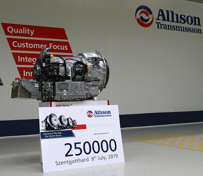 Transmisión nº 250.000 de Allison Transmission de Szentgotthárd