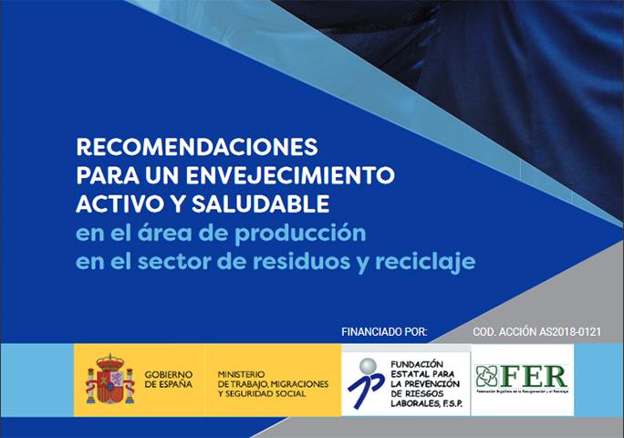FER: Aplicación móvil y folleto sobre criterios saludables para el envejecimiento activo en el sector de residuos