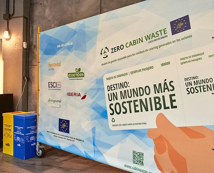 En 2019 se reciclaron más de 2.250 toneladas de envases de los vuelos de Iberia gracias al proyecto Zero Cabin Waste