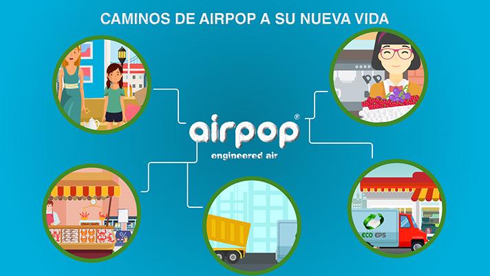 En el video se explica que es airpop, y donde se deben depositar sus residuos