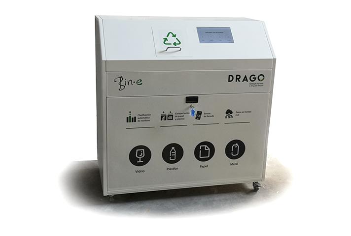 Drago: contenedor de separación inteligente Bin-e
