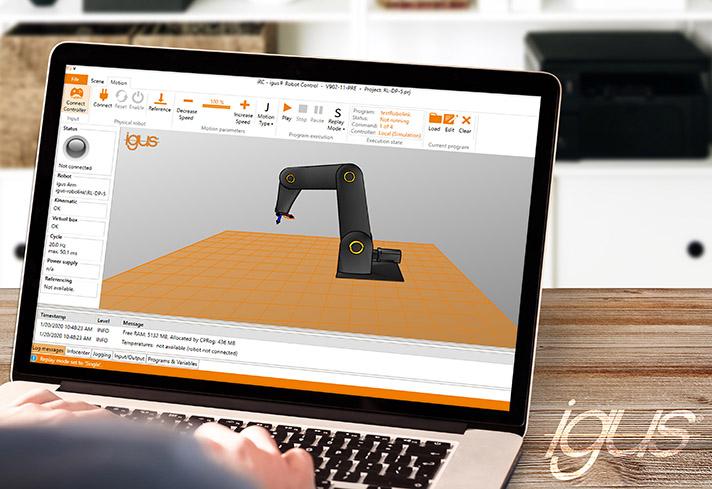 igus robot control: modelización gratuita y control de robots económico