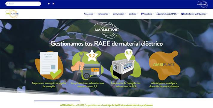 AMBIAFME lanza una nueva página web diseñada para ayudar a los profesionales a gestionar sus residuos de material eléctrico