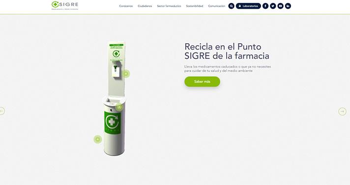 SIGRE renueva su página web corporativa con nuevos contenidos para ciudadanos y profesionales del sector farmacéutico