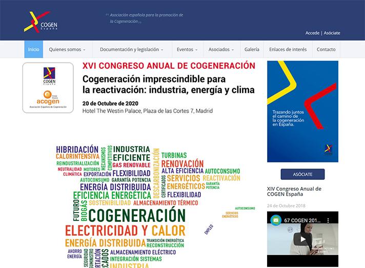 El XVI Congreso Anual de Cogeneración se celebra en octubre en Madrid
