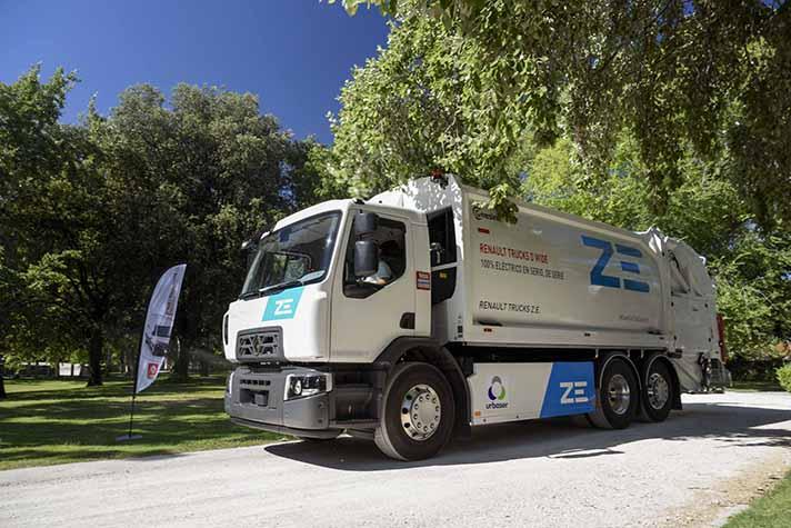 Renault Trucks y Urbaser apuestan por la sostenibilidad con el primer camión 100% eléctrico de serie en España