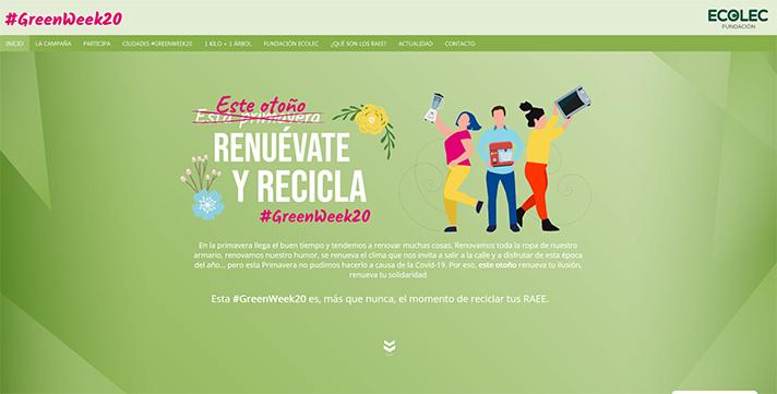 La Fundación Ecolec celebra la cuarta edición de la #GreenWeek20