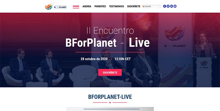 BforPlanet-Live contará con la participación de los principales responsables de sostenibilidad de empresas como Suez, BASF, Amazon, BBVA, Iberdrola, y Unilever y del presidente de Foment del Treball