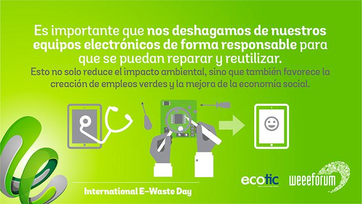 El tercer International E-Waste Day, celebrado el 14 de octubre, ha sido el que ha contado con mayor difusión hasta la fecha
