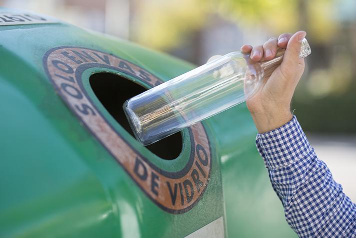 España alcanzó una tasa de reciclado de envases de vidrio del 76,8% en el año 2018