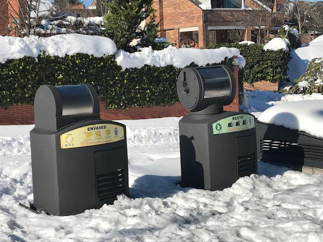 Los sistemas neumáticos de recogida de residuos han sido los únicos que han seguido operando con normalidad en España tras la tormenta de nieve y hielo