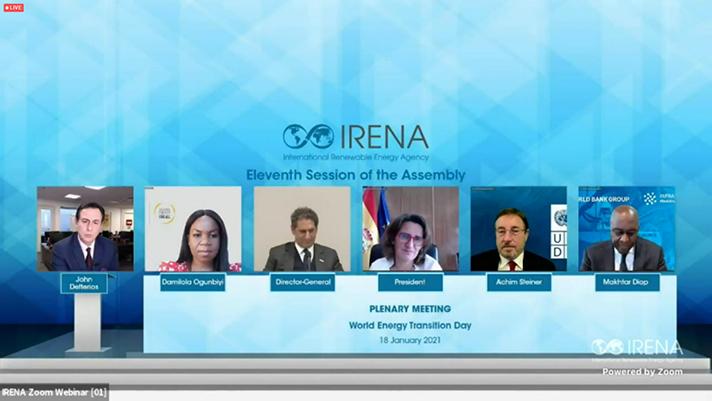 Intervención de Teresa Ribera en la XI Asamblea de la Agencia Internacional de las Energías Renovables (IRENA)